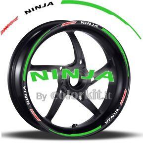 strisce RACING1 cerchi ruote Adesivi moto KAWASAKI NINJA 300 ABS