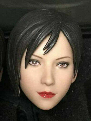1//6 Female Head Ada Wong Sculpt PVC 2in.Model Toy Straight Looking Version Gift