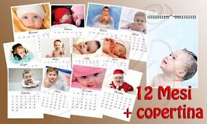 Calendario Bimbi.Dettagli Su Foto Calendario 2018 Foto Del Vostro Bimbo Bimba 12 Mesi Copertina 30x42cm