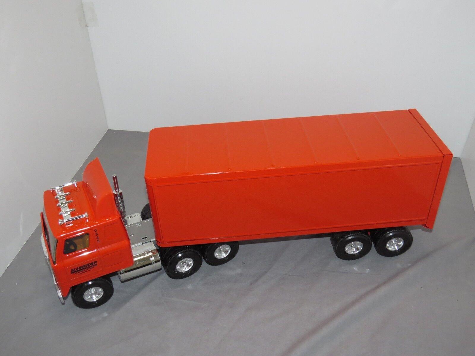 Vintage ERTL Schneider National Semi Tracteur Camion Remorque Acier TRANSTAR NEW IN BOX