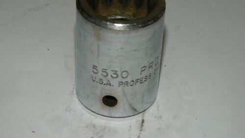 "PROTO 5530  USA made SOCKET  3//4/"" drv .15//16/""   12 POINT  A502"