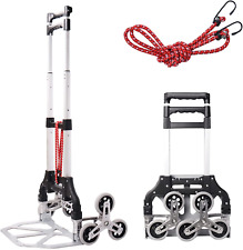 Stair Climbing Cart Folding Hand Truck Aluminum Alloy Luggage Moving Trolley C
