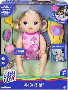 DAMAGED PACKAGING Baby Alive Baby Go Bye Bye Blonde New in ...