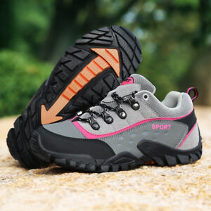Women's Hiking Shoes Outdoor Trail Trekking Sneakers Breathable Climbing  Shoes | eBay