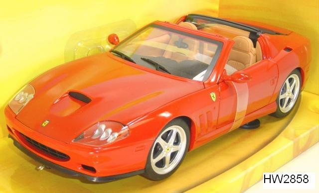 2005 ferrari 575 superamerica rot hot wheels base edition 1,18 versandkosten