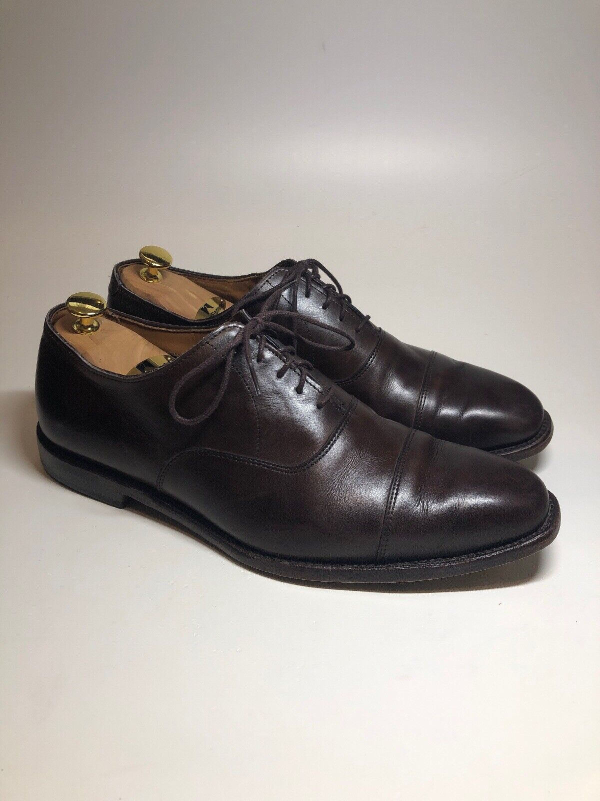 Allen Edmonds 395   Exchange Place marron Cap Toe Derbies Chaussures Homme Taille 11 E