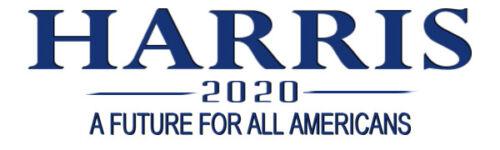 Kamala Harris For President 2020 Bumper Sticker Decal