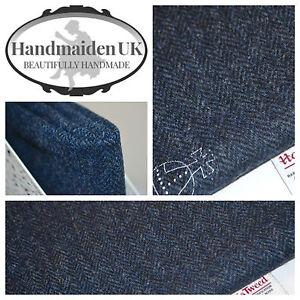 Harris Tweed Tela Y Etiquetas Gris Herringbone Tapicería sastrería traje Craft