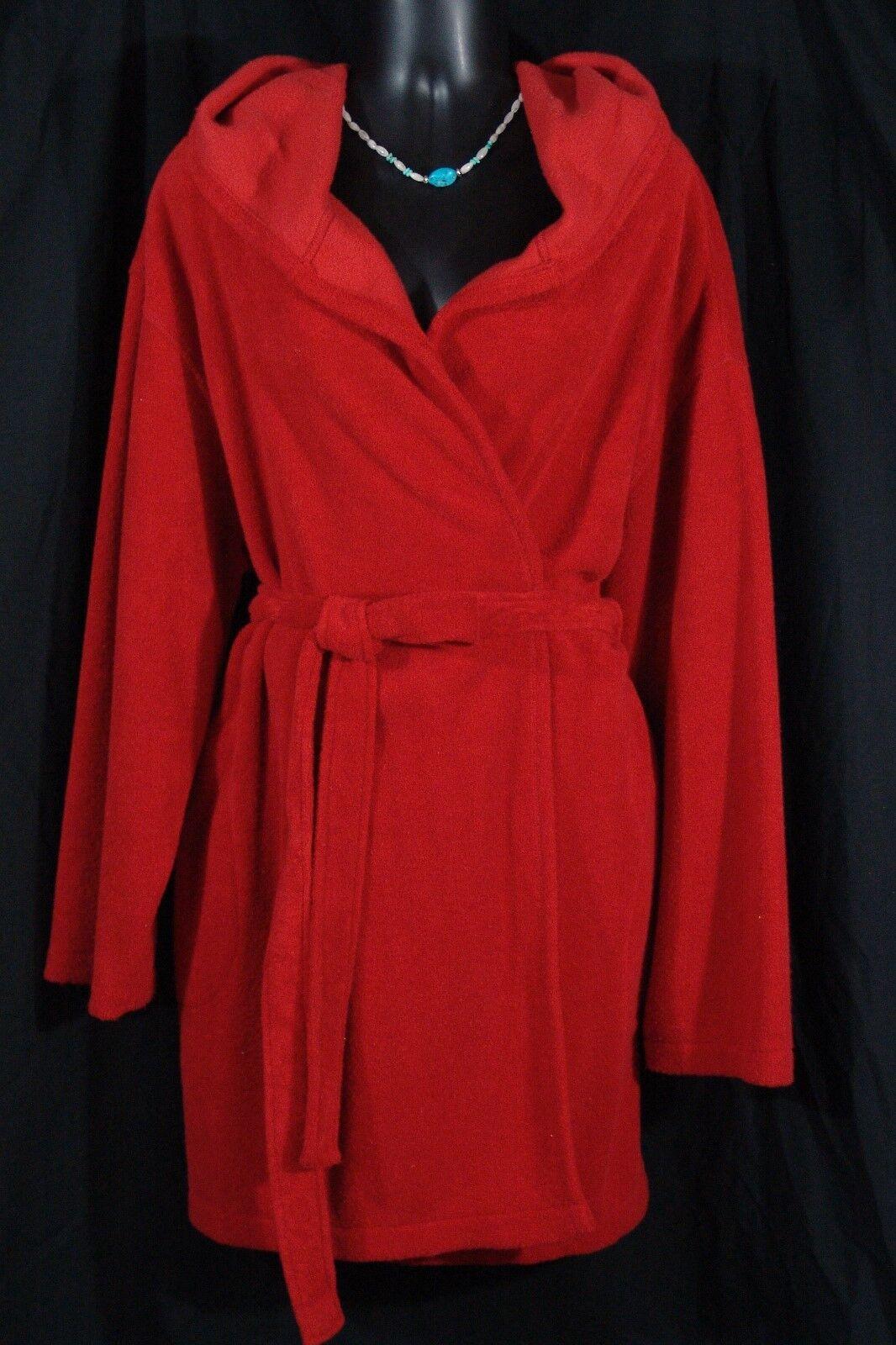 Victoria's Secret Robe M L hoodie (red medium large VS hooded spa wrap)