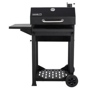 Nexgrill Cart-Style Charcoal Grill in Black w Side Shelf, Foldable Front Shelf