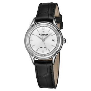 Eterna Women's Heritage 1948 For Her Leather Automatic Watch 2956.41.13.138