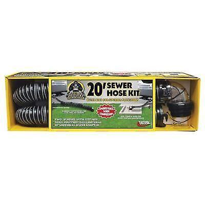 Valterra D04-0675 Silverback RV Camper Sewer Hose Kit 20ft Long
