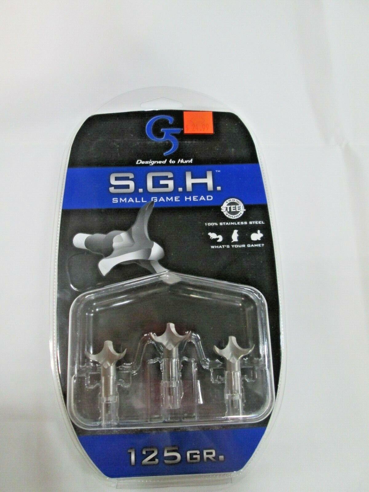G 5 Outdoors S.G.H Small Game Head 100 Grain 1-Inch Cut Broadhead 1 Pack
