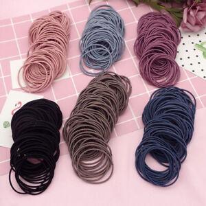 Lots-100PCS-Black-Elastic-Hair-Tie-Band-Rope-Ring-Ponytail-Holder-Gift-Womens