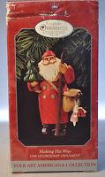 Hallmark - Making His Way - Santa - Membership Ornament - 1998 Keepsake Ornament