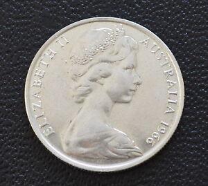 Australian 1966 round 50 cent 80% silver Coin Gift