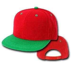 Red   Kelly Green Vintage Flat Snapback Baseball Cap Caps Hat Hats ... 8c4de5e36c5