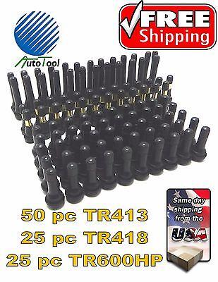 TR600HP=25 Pcs TR418=25 Pcs =100 pcs Tire Valve Stem Assortment TR413=50 Pcs