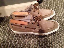 MONCLER Ramatuel Beige Boat Shoe in Size 44 MSRP $590