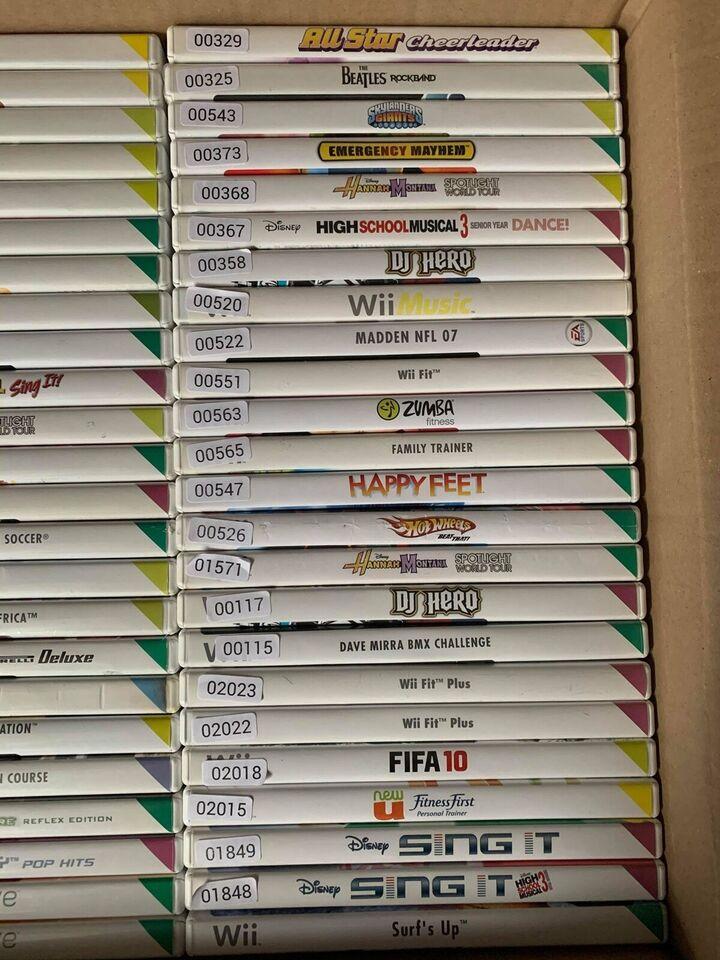Nintendo Wii, Stor omgang Wii spil - 4 stks 99 kr.