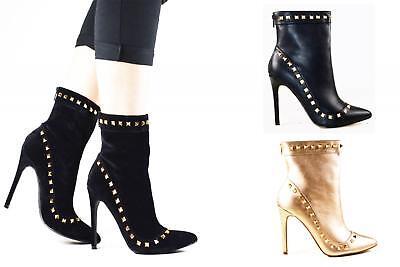 Para Mujer de Moda Con Tachas sobre el tobillo bota talla 3 - 8