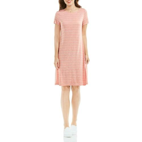 Vince Camuto Womens Pink Short Sleeves Knee-Length T-Shirt Dress S BHFO 9931