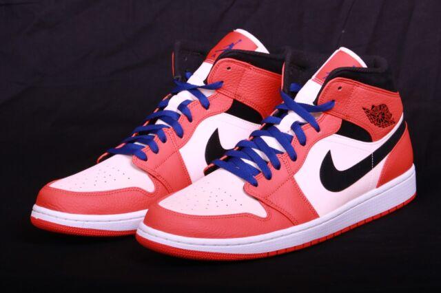 wholesale dealer 8edf9 81f2f Nike Air Jordan Retro I 1 Mid SE SHATTERED ORANGE WHITE BLACK 852542 800  Sz14