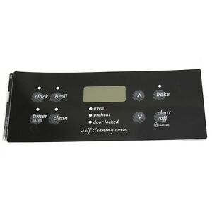 316419112 Frigidaire Range Control Overlay