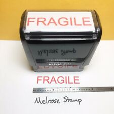 New Listingfragile Rubber Stamp Red Ink Self Inking Ideal 4913