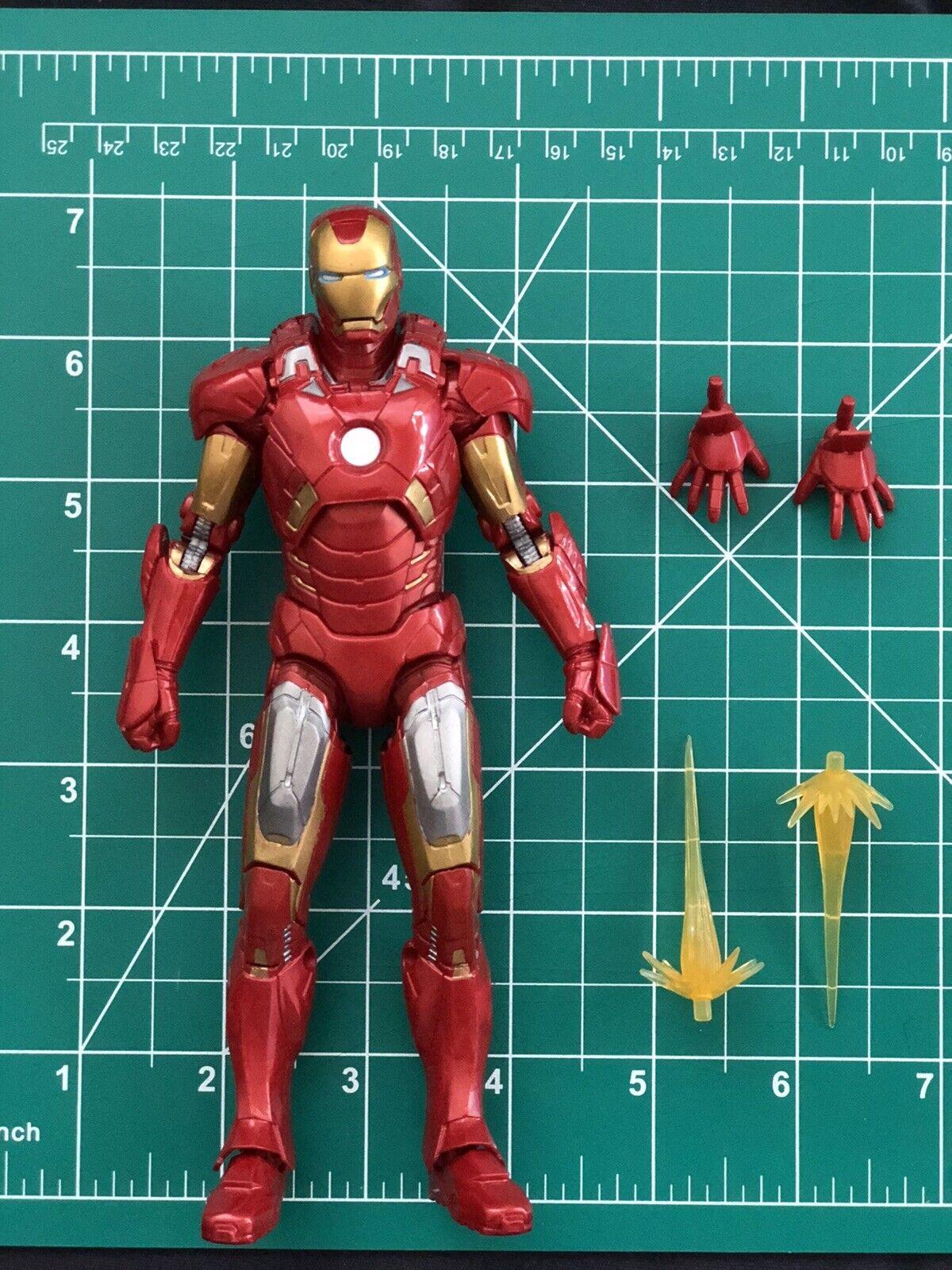 "Marvel Legends Studios First 10 Years Avengers Iron Man Mark 7 VII 6"" on eBay thumbnail"