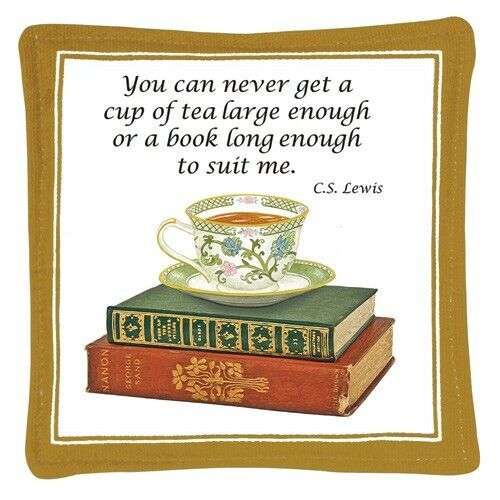 Alice/'s Cottage Cotton Scented Spiced Mug Mat Coaster Tea /& Books NEW
