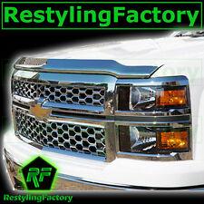 14-15 Chevy Silverado 1500 Triple Chrome Hood Shield Guard Bug Deflector 2015