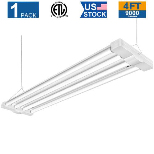 80W 4ft LED Shop Lights Linear Low Bay Workshop Ceiling Light Fixture 9000LM