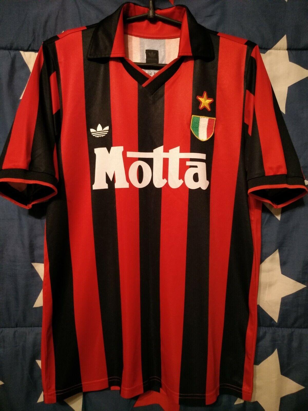 Talla S AC Milan  1992-1993 Adidas Motta Special Edition Home Football Shirt