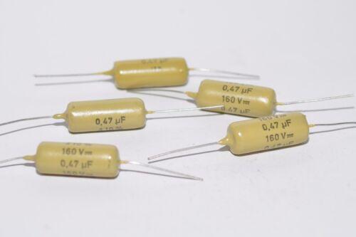 selected to 0.2/% Matched pair of Mullard Mustard capacitors 0.47 MFD//160 V