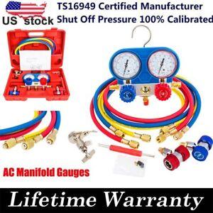 AC-Manifold-Gauge-Set-Air-Conditioner-Pump-Service-Kit-R12-R22-410a-HVAC-R134A