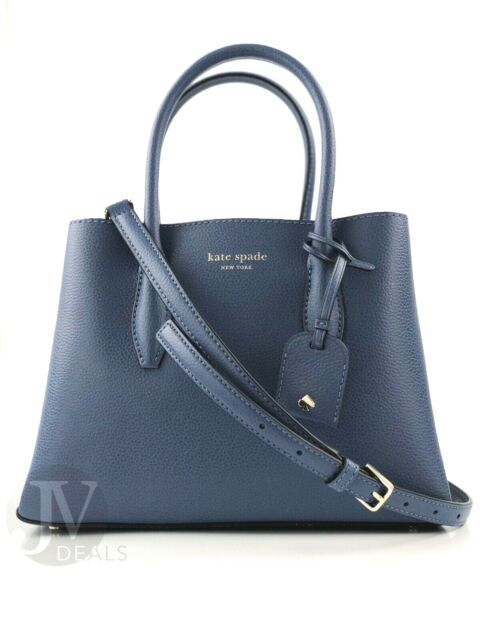 a6500b8bfba Kate Spade Small Satchel Eva Crossbody Bag Leather Constellation Blue