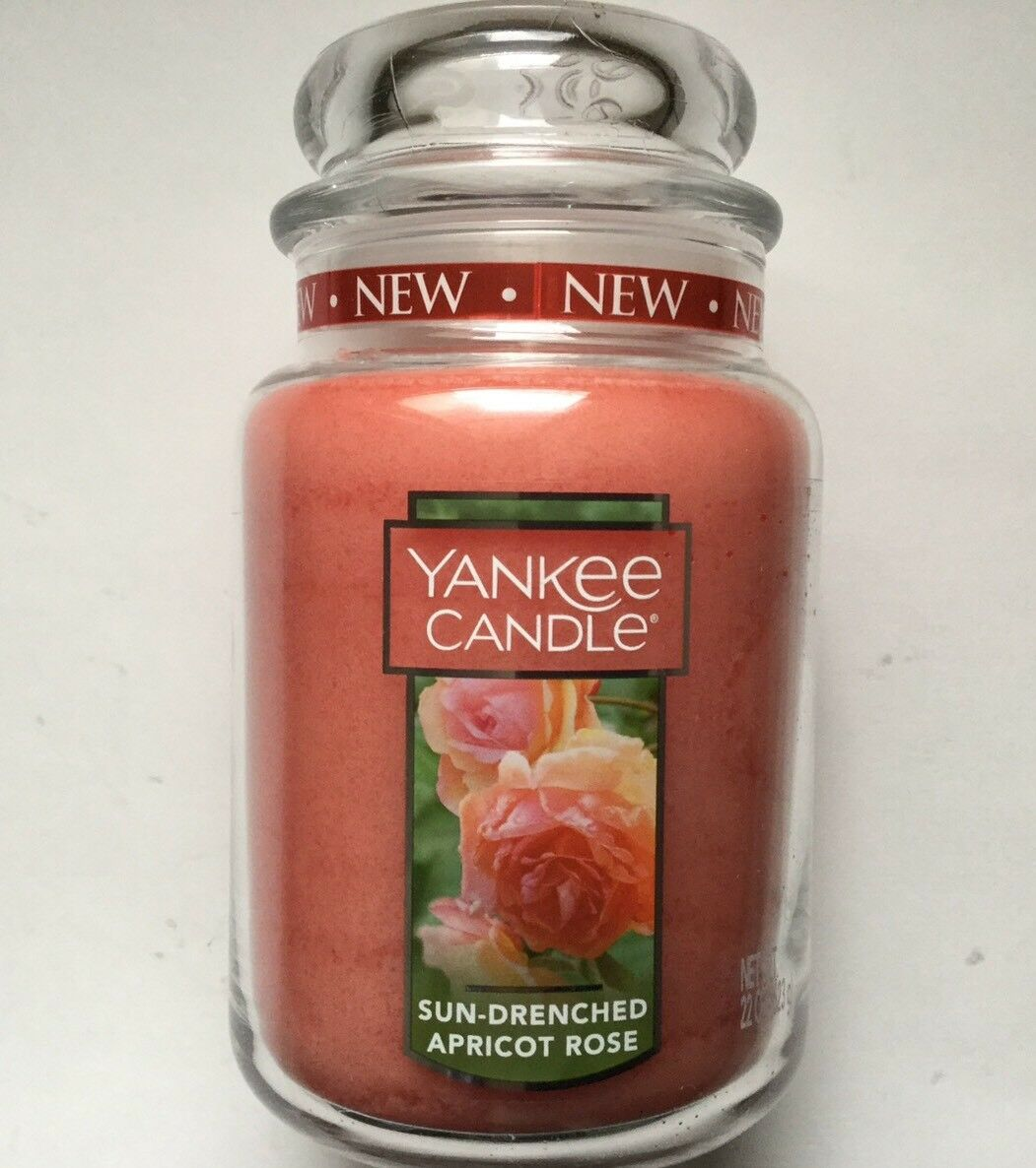 Yankee Candle SUN DRENCHED APRICOT pink 22 oz. LARGE JAR HTF SCENT