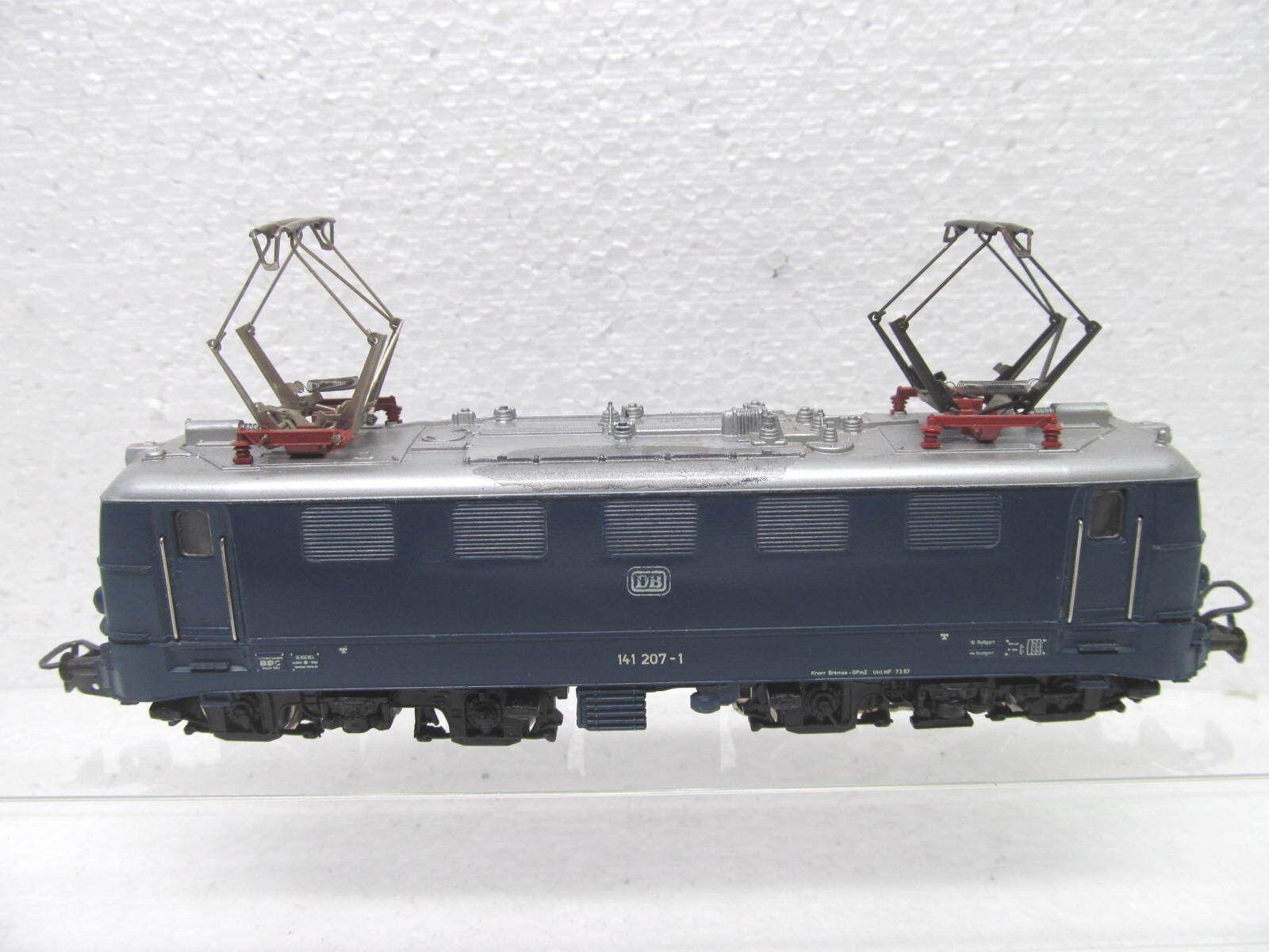 Mes-38816   h0 E-Lok DB 141 207-1 con segni di usura, esaminato funzione,