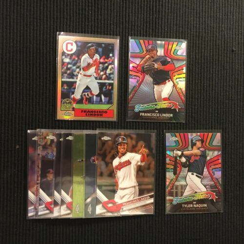 2017 TOPPS CHROME CLEVELAND INDIANS TEAM SET 11 CARDS  WITH 3 INSERTS