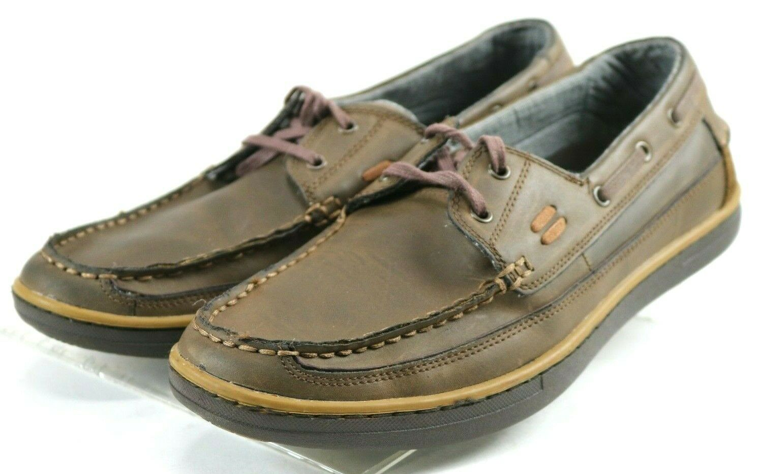 Skechers Sereno Latted  Men's Boat shoes Size 10 Leather Brown