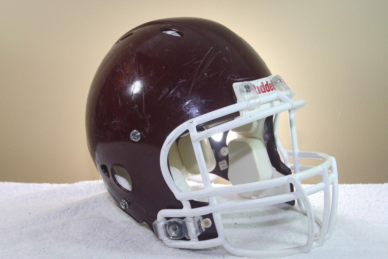 Riddell ADULT Game Used Worn Worn Worn Revolution Football Helmet Maroon Medium OPO 45 d94953
