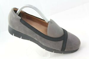 Clarks-Artisan-Daelyn-Hill-Womens-Sz-7-5W-Gray-Suede-Slip-On-Loafers-Flats-Shoes