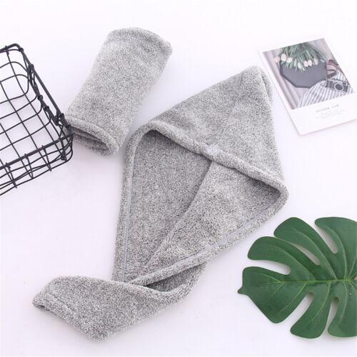 Fast Drying Hair Absorbent Towel Head Wrap Turban Bamboo Fiber Bath Shower Hat