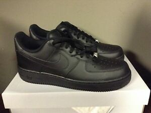 Nike Air Force 1 Low BLACK Classic '07 315122 001 LIMITED RARE AF1
