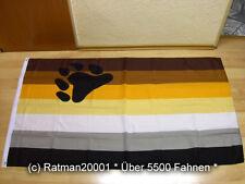 Fahnen Flagge Gay Pride Bear Rainbow Sonderposten - 90 x 150 cm