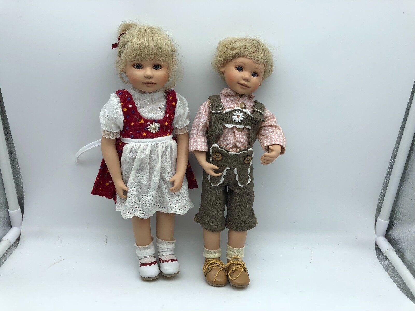 Gabriele Müller ⭐ ⭐ PORCELLANA bambole Marlene & Max 30 cm. ⭐ ⭐ ottimo stato