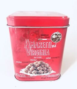 Metal Tin Amaretti Virginia specialita Cookies décorative rétro Red Box Italie-afficher le titre d`origine eOcfrSuf-09164452-971886507