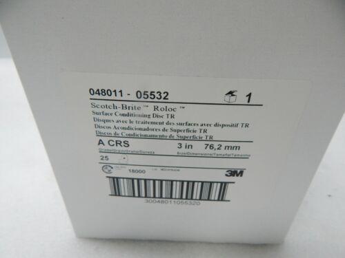 """3M Scotch-Brite 048011-05532 3/"""" Roloc surface cond disc TR A CRS Course 25 pcs"""