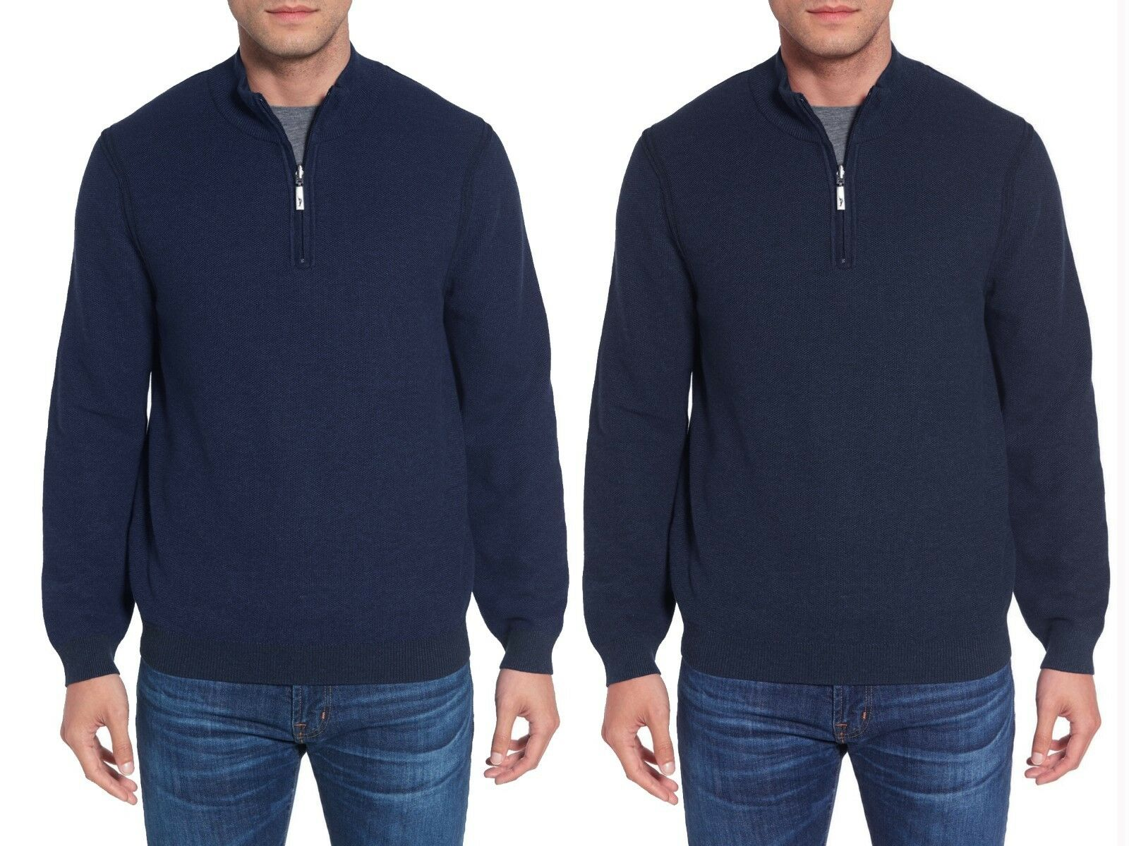 TOMMY BAHAMA Make Mine a Double Reversible 1/4 Zip Sweater Sz.XL NWT 138